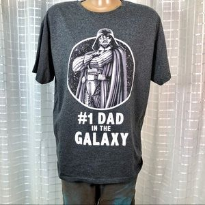 StarWars #1 Dad In The Galaxy Large Grey